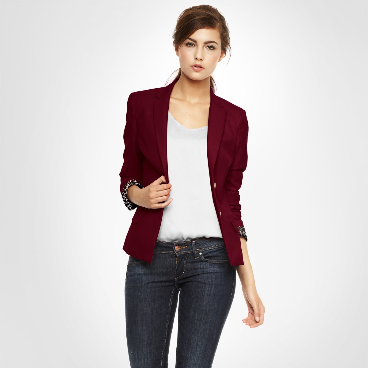blazer femme court cintre. Black Bedroom Furniture Sets. Home Design Ideas
