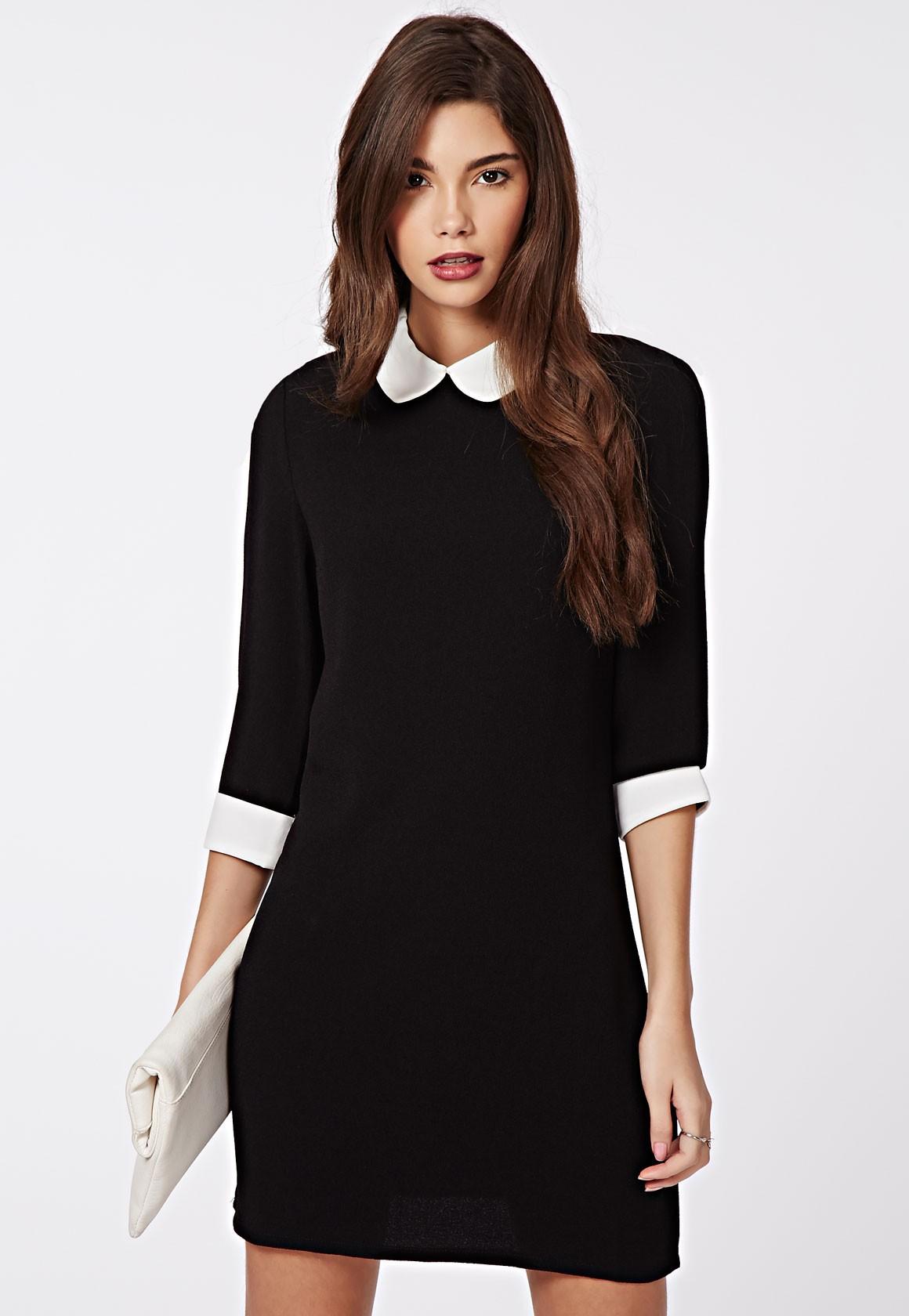 robe col claudine pour un look sage mais tendance. Black Bedroom Furniture Sets. Home Design Ideas